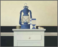 Wim Blom Blue lamp