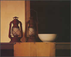 Wim Blom  Two lamps 1999 Oil on canvas 65 x 81 cm