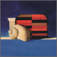 Wim Blom  Shell and Kyoto box 2002 Oil on board 14 x 14 cm
