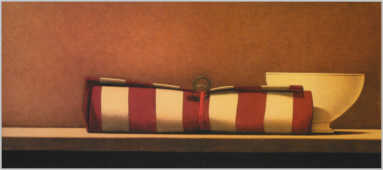 Wim Blom  Tied cloth 2001 Oil on canvas 25.5 x 60 cm